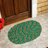 Shop 24x7 -Beautiful Door Mat (set Of 2) - Green