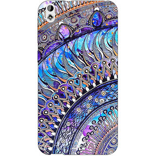 Jugaaduu Paisley Beautiful Peacock Back Cover Case For HTC Desire 816G - J1071587