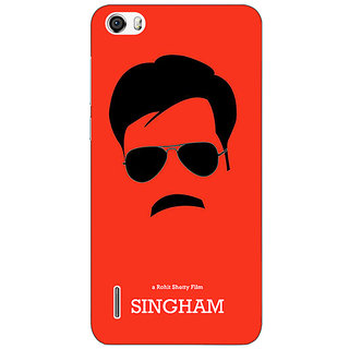 Jugaaduu Bollywood Superstar Singham Back Cover Case For Huawei Honor 6 - J861079