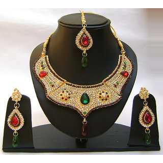 Indian Wedding Bridal Jewellery Necklace Set. JVS-1721