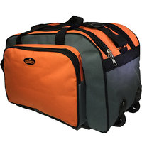Bagther Orange,Black Travel Bag With Wheel 20 Inch