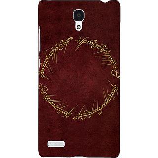 Jugaaduu LOTR Hobbit  Back Cover Case For Redmi Note 4G - J240369