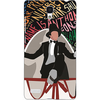 Jugaaduu Bollywood Superstar Anthony Gonsalves Back Cover Case For Redmi Note 4G - J241117