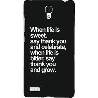 Jugaaduu Quote Back Cover Case For Redmi Note 4G - J241473