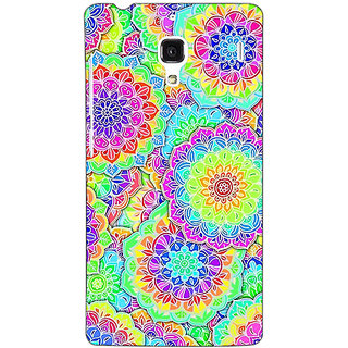 Jugaaduu Psychdelic Floral  Pattern Back Cover Case For Redmi 1S - J250235