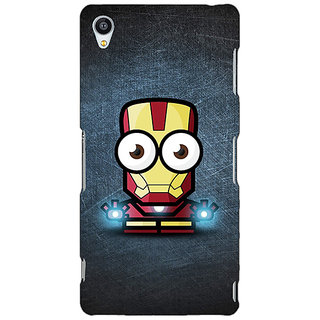 Jugaaduu Big Eyed Superheroes Iron Man Back Cover Case For Sony Xperia Z3 - J260396