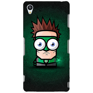 Jugaaduu Big Eyed Superheroes Green Lantern Back Cover Case For Sony Xperia Z3 - J260399