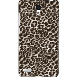 Jugaaduu Cheetah Leopard Print Back Cover Case For Redmi Note 4G - J240077