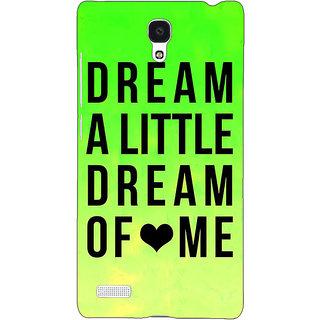 Jugaaduu Dream Love Back Cover Case For Redmi Note 4G - J240092