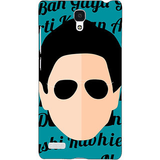 Jugaaduu Bollywood Superstar Shahrukh Khan Back Cover Case For Redmi Note 4G - J241121
