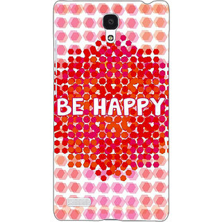 Jugaaduu Quotes Happy Back Cover Case For Redmi Note 4G - J241154
