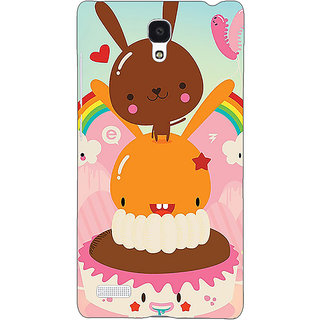 Jugaaduu Cartoons Back Cover Case For Redmi Note 4G - J241163