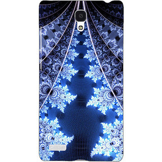 Jugaaduu Abstract Snow Flake Pattern Back Cover Case For Redmi Note 4G - J241503