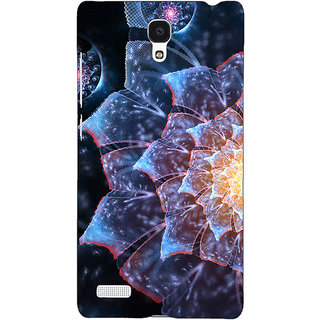 Jugaaduu Abstract Flower Pattern Back Cover Case For Redmi Note 4G - J241515