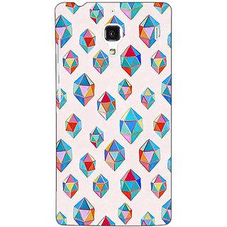 Jugaaduu Diamonds of Dreams Pattern Back Cover Case For Redmi 1S - J250251