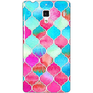 Jugaaduu Blue Pink Moroccan Tiles Pattern Back Cover Case For Redmi 1S - J250295