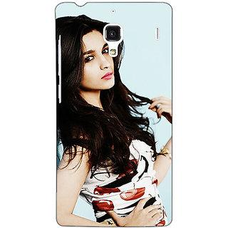 Jugaaduu Bollywood Superstar Alia Bhatt Back Cover Case For Redmi 1S - J251012