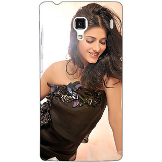 Jugaaduu Bollywood Superstar Shruti Hassan Back Cover Case For Redmi 1S - J251066