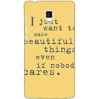 Jugaaduu Quote Back Cover Case For Redmi 1S - J251335
