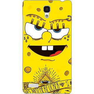 Jugaaduu Spongebob Back Cover Case For Redmi Note 4G - J240466