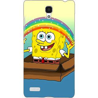 Jugaaduu Spongebob Back Cover Case For Redmi Note 4G - J240469