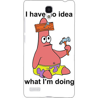 Jugaaduu Spongebob Patrick Back Cover Case For Redmi Note 4G - J240474