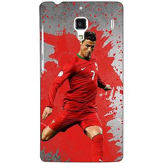 Jugaaduu Cristiano Ronaldo Portugal Back Cover Case For Redmi 1S - J250318