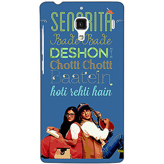 Jugaaduu Bollywood Superstar DDLJ Back Cover Case For Redmi 1S - J251097