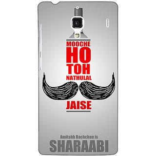 Jugaaduu Bollywood Superstar Natwarlal Sharaabi Back Cover Case For Redmi 1S - J251122