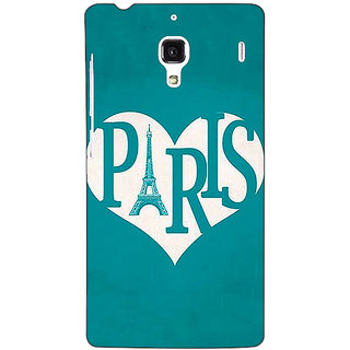 Jugaaduu Paris love Back Cover Case For Redmi 1S - J251404