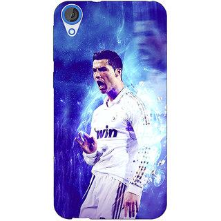 Jugaaduu Cristiano Ronaldo Real Madrid Back Cover Case For HTC Desire 820 - J280308