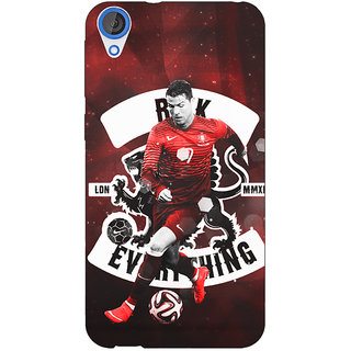 Jugaaduu Cristiano Ronaldo Portugal Back Cover Case For HTC Desire 820 - J280319