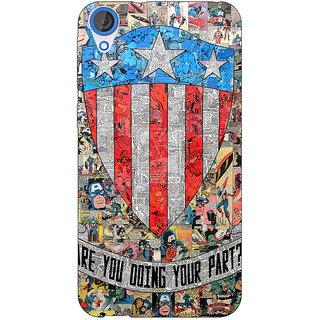 Jugaaduu Superheroes Captain America Back Cover Case For HTC Desire 820 - J280333