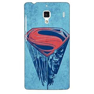 Jugaaduu Superheroes Superman Back Cover Case For Redmi 1S - J250387