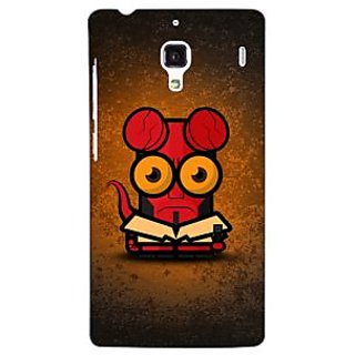 Jugaaduu Big Eyed Superheroes Hell Boy Back Cover Case For Redmi 1S - J250400