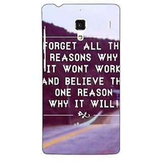 Jugaaduu Wise Quote Back Cover Case For Redmi 1S - J251158