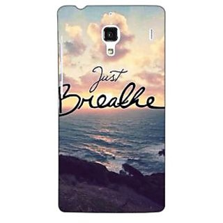 Jugaaduu Quote Sky Just Breathe Back Cover Case For Redmi 1S - J251161