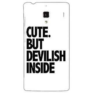 Jugaaduu Quote Back Cover Case For Redmi 1S - J251445