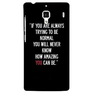 Jugaaduu Quote Back Cover Case For Redmi 1S - J251472
