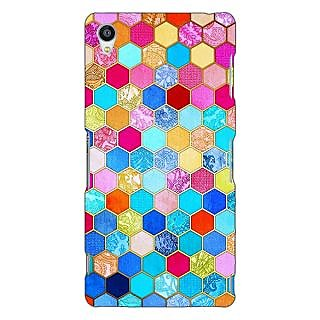 Jugaaduu Coloured Hexagon Pattern Back Cover Case For Sony Xperia Z3 - J260225