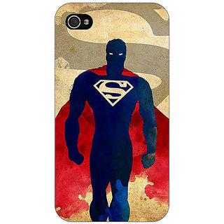 Jugaaduu Superheroes Superman Back Cover Case For Apple iPhone 4 - J10040
