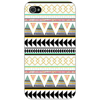 Jugaaduu Aztec Girly Tribal Back Cover Case For Apple iPhone 4 - J10067