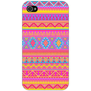 Jugaaduu Aztec Girly Tribal Back Cover Case For Apple iPhone 4 - J10072