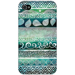 Jugaaduu Aztec Girly Tribal Back Cover Case For Apple iPhone 4 - J10076