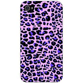 Jugaaduu Cheetah Leopard Print Back Cover Case For Apple iPhone 4 - J10079
