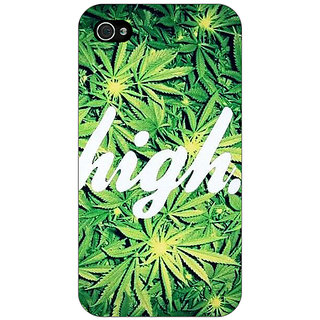 Jugaaduu Weed Marijuana Back Cover Case For Apple iPhone 4 - J10493