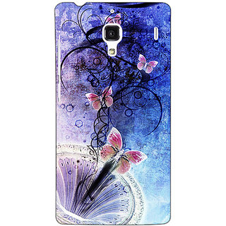 Jugaaduu Abstract Butter Fly Pattern Back Cover Case For Redmi 1S - J251510