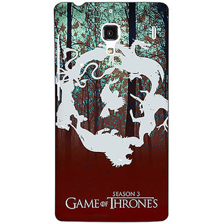 Jugaaduu Game Of Thrones GOT Houses Back Cover Case For Redmi 1S - J251527