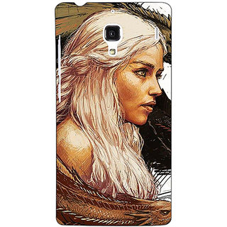 Jugaaduu Game Of Thrones GOT Khaleesi Daenerys Targaryen Back Cover Case For Redmi 1S - J251534