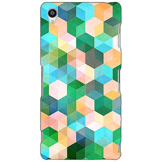 Jugaaduu Green Hexagons Pattern Back Cover Case For Sony Xperia Z3 - J260276
